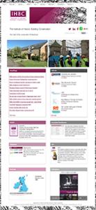 IHBC Website Home Page