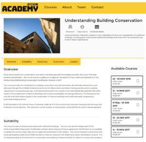 CIOBUnderstanding Building Conservation website