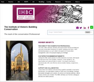 IHBC Members Benefits page