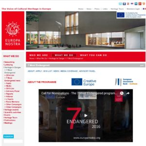 Europa Nostra website