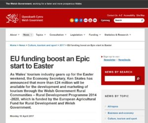 Welsh government news website April 2017