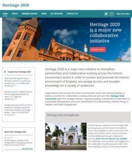 heritage 2020 website
