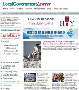 Local Gov Lawyer news April 2017