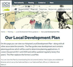 Loch Lomand NPA website