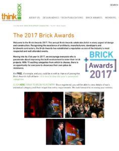 Brick Awards 2017 website