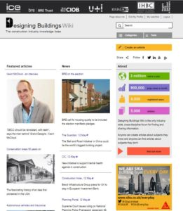 Designing Buildings Wiki homepage