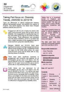 DCMS Diversity Document cover