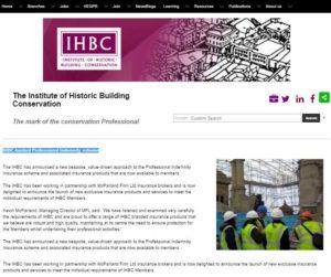 IHBC PI webpage