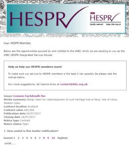 HESPR Notification 110717