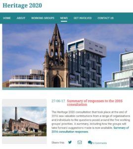 Heritage 2020 website 11 July 2017