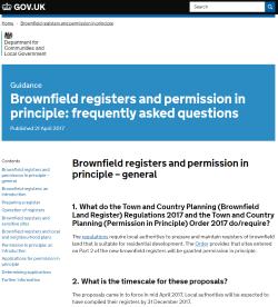 UK Gov Brownfield Registers webpage 180817
