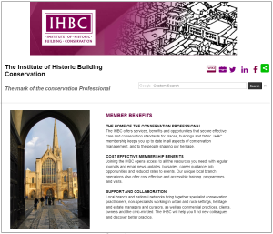 IHBC membership benefits webpage