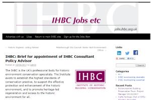 IHBC Jobs etc