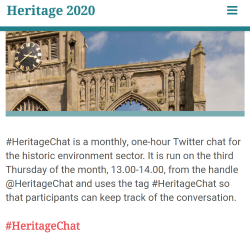Heritage 2020 website
