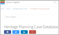 HE Heritage Planning Case DB