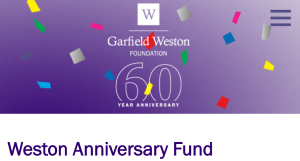 Garfield Weston Anniversary Fund