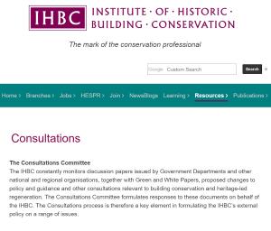 IHBC consultations webpage