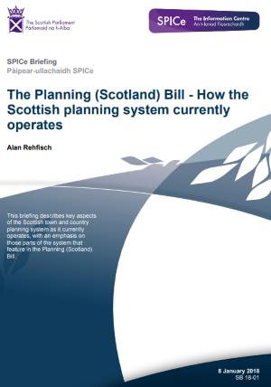 Planning Scotland Bill 2018