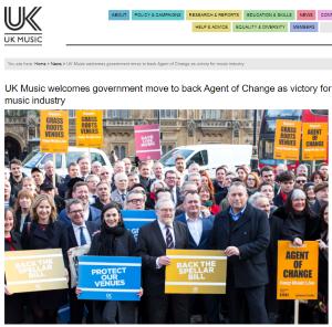 UK Music website