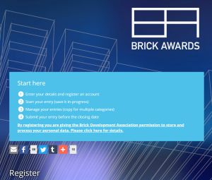 Brick Awards 2018 website