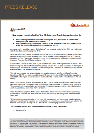 Ecclesiastical Press Release