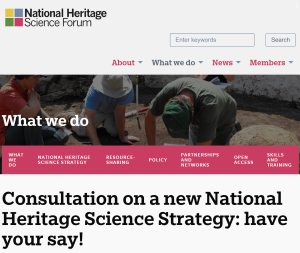 National Heritage Science Forum website