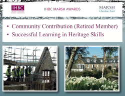 IHBC Marsh Awards website