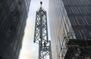 tower crane and buildings