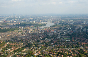 London suburbs panorama